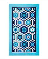 Jonathan Adler Honeycomb Beach Towel, Blue