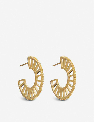 Rachel Jackson Queen of Revelry 22ct gold-plated silver large hoop earrings