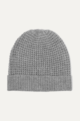 Madeleine Thompson Holby Waffle-knit Cashmere Beanie - Gray