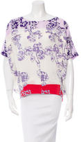 Diane von Furstenberg Printed Silk Top w/ Tags