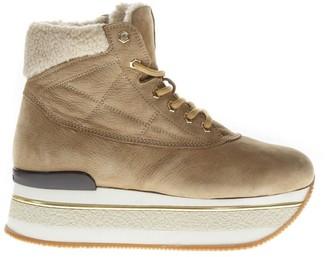 Hogan Maxi H222 Camel Nubuck Sneakers