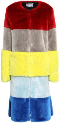 Osman Color-block Faux Fur Coat