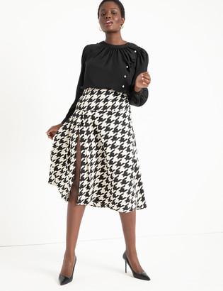 ELOQUII Midi Skirt with Pleats