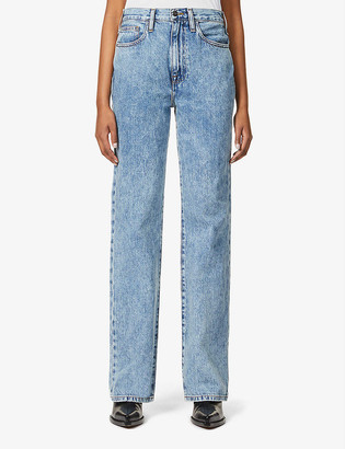 Frame Le Jane straight-leg high-rise jeans