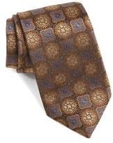 David Donahue Men's Medallion Woven Silk Tie