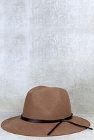 LuLu*s Sassafras Tan Fedora Hat