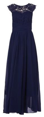 Dorothy Perkins Womens Jolie Moi Navy Lace Maxi Dress