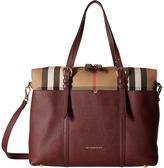 Burberry Mason House Check and Leather Baby Changing Bag Satchel Handbags