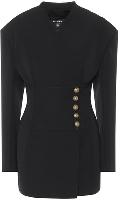 Balmain Wool-crepe minidress