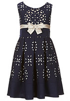 Bonnie Jean Big Girls 7-16 Laser-Cut Fit-and-Flare Dress