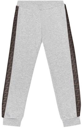 Fendi Kids FF cotton trackpants