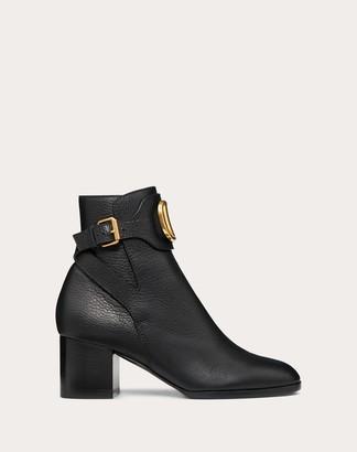 Valentino Vlogo Grainy Leather Ankle Boot 60 Mm Women Black 37.5