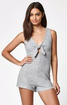 KENDALL + KYLIE Kendall & Kylie Tie Front Knit Romper