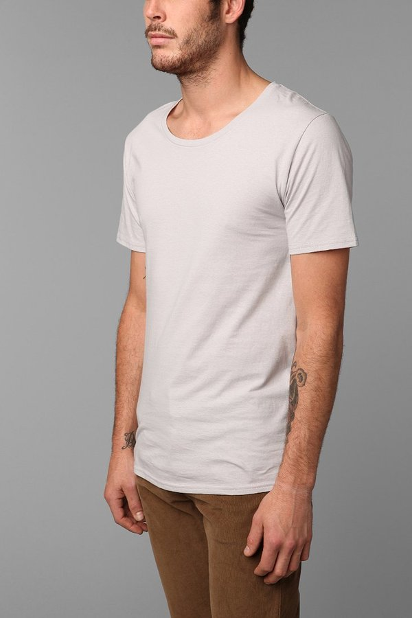 BDG Cotton Wide Neck Slim-Fit Tee