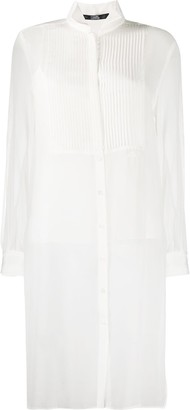 Karl Lagerfeld Paris Long Sleeve Sheer Shirt