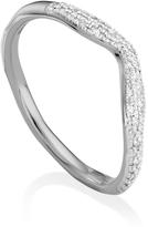 Monica Vinader Riva Diamond Wave Ring
