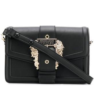 Versace logo buckle shoulder bag