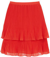 """Oasis PLEAT TWO TIER SKIRT [span class=""""variation_color_heading""""]- Coral[/span]"""
