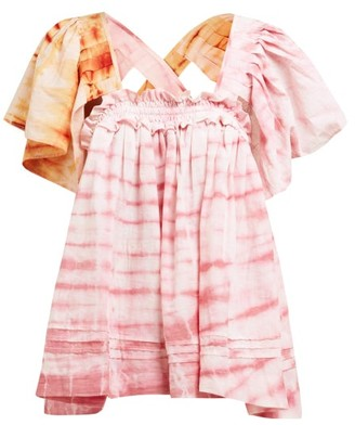story. Mfg - Aida Tie Dye Organic Cotton Top - Womens - Pink