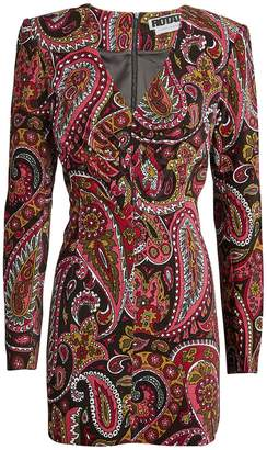 Rotate by Birger Christensen No. 48 Paisley Velvet Dress
