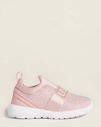 U.S. Polo Assn. Toddler Girls) Pink Charm Slip-On Sneakers