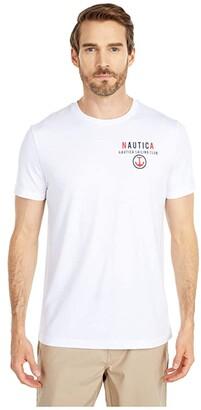 Nautica Graphic Tee (White) Men's Clothing