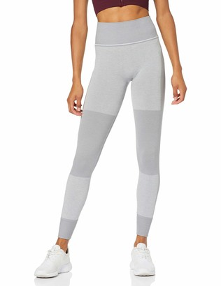 Aurique Amazon Brand Women's Seamless Colour Block Sports Leggings