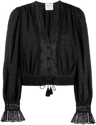 Forte Forte Embroidered Peasant Blouse