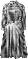 Aspesi checked flared shirt dress - women - Cotton/Polyurethane - 42