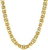 JCPenney FINE JEWELRY Mens Stainless Steel & Gold-Tone IP 18 7mm Byzantine Chain