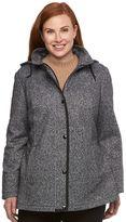 Croft & Barrow Plus Size Hooded Fleece Jacket