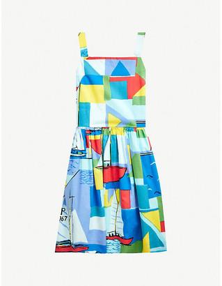 Ralph Lauren Nautical printed cotton mini dress 2-14 years