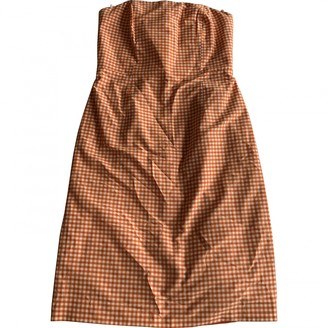Barneys New York Orange Cotton Dress for Women