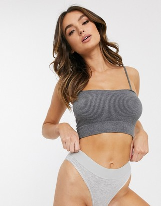 Women'secret seamless bralette with removeable padding-Grey