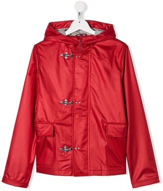 Fay Kids Hooded Clip Fastened Jacket