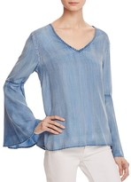 Scotch & Soda Bell Sleeve Chambray Top
