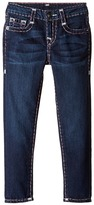 True Religion Casey White and Pink Combo Super T Jeans in Tear Drop Blue Girl's Jeans