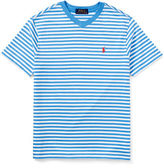 Ralph Lauren Striped V-Neck Jersey Tee, Size 5-7