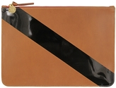 Clare Vivier Margot Supreme Diagonal Stripe Flat Clutch