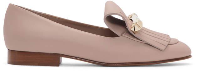 Valentino Pink Garavani Uptown Loafers