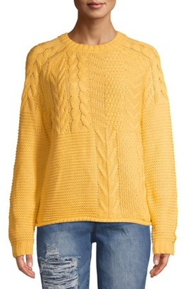 Time and Tru Women's Mixed Stitch Sweater