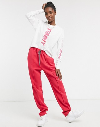 Tommy Jeans slim joggers in bright pink