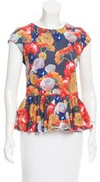 Alice + Olivia Floral Print Peplum Top w/ Tags