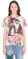 Gucci Bloom & Monkeys Printed Jersey T-Shirt