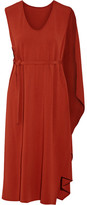 Narciso Rodriguez Cape-back Crepe Midi Dress - Brick