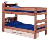 Chou Bookcase Twin Over Twin Bunk Bed with Bookcase Harriet Bee