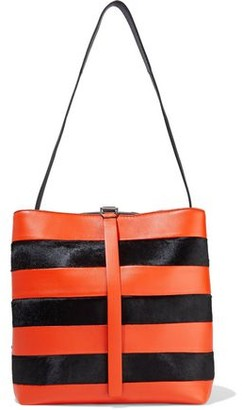 Proenza Schouler Leather And Calf Hair Bucket Bag