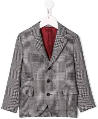 Brunello Cucinelli KIDS checked formal blazer