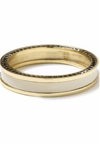 House of Harlow 1960 Creme Leather Stack Bangle