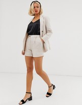 New Look tailored shorts in stone two